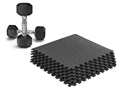 Epic Fitness Dumbbells & Gym Mat Tiles