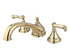 French Roman Tub Filler, Brass