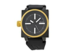 Gold Plated Black Dial with Black Band