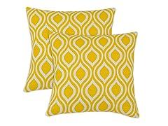 Nichole 17X17 Pillows - Corn - Set of 2