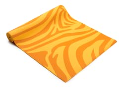 Orange Zebra Yoga Mat