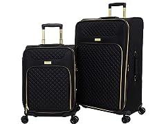 2PC Expandable Vertical Luggage Set