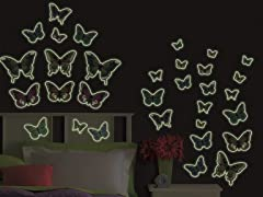 Glow-in-the-Dark Butterflies- Set of 4