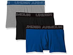 "Under Armour Men's Charged Cotton Stretch 3"" Boxerjock 3-Pack"