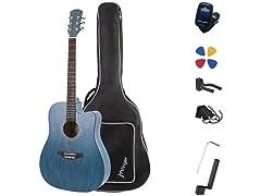 JMFinger Full Size Cutaway Acoustic 41in Guitar for Beginners