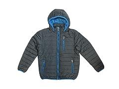 Boys Puffer Jacket With Trim Design