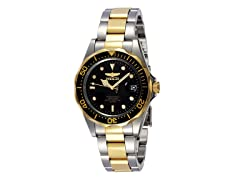 Pro Diver Watch, Silver/Gold