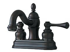 Centerset Bathroom Faucet, Bronze