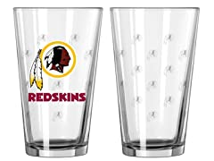 Redskins Pint Glass 2-Pack