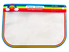 Kids Rainbow Face Shields