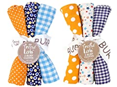 6-Piece Burp Cloth Set - Dreamsicle