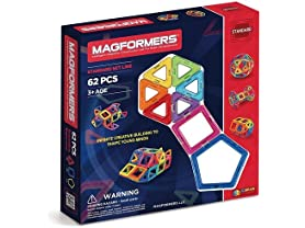 Magformers 62-Piece Magnetic Construction Set