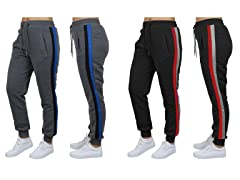 GBH Wmns Loose-Fit Striped Fleece Joggers 2Pk