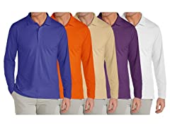 GBH Men's 5Pack Assorted L/S Polo Shirts