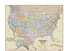 USA Boardroom Wall Map