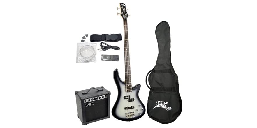 pro electric bass guitar amp package. Black Bedroom Furniture Sets. Home Design Ideas