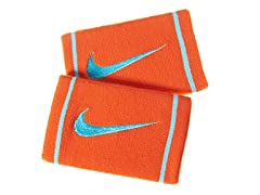 Nike DriFit Doublewide Wristbands-Orange