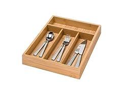 Honey-Can-Do Bamboo Cutlery Tray