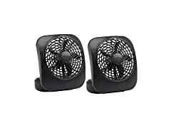 "Treva 5"" Desktop Battery Powered Fan 2 Pack"