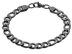 Stainless Steel Black IP Bracelet