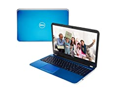 "Dell 15.6"" AMD Quad-Core Laptop - Blue"
