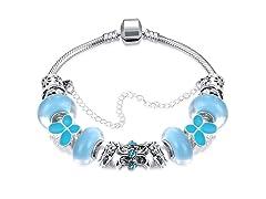 Sky Blue Petite Butterfly Bracelet