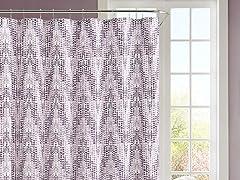 Purple Chevron Embossed Shower Curtain