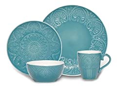 Pfaltzgraff 4-PC Dinnerware Set - Teal