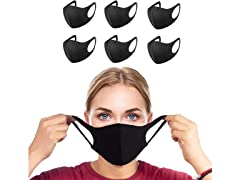 Reusable Washable Black Masks (6-Pack)