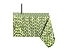 "DII 100% Polyester Outdoor Tablecloth w/ Zipper & Umbrella Hole, 60"" x 120"", Spring Lattice"