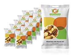 Mixed Nuts with Peanuts Snack Bag, 12 Pack