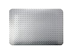 3' Dry Area Diamond Mat, Silver Metallic