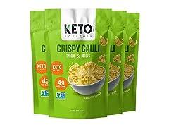 Keto Crispy Cauli Bites, Garlic and Herb