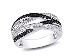 0.50 Black and White Diamond Ring