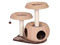 Natural Cat Tree with Condo & Perches