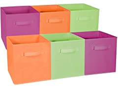 Sorbus Foldable Storage Cube Bin, 6pk - Your Choice