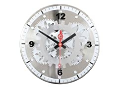 "12"" Moving Gear Wall Clock"