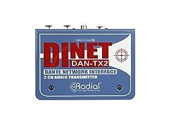 DiNET 2Channel Dante Network Transmitter