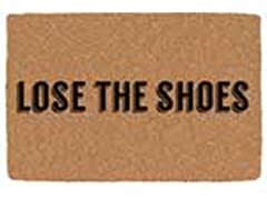 Printed Coir Welcome Mat, Lose The Shoes