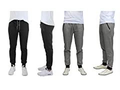 Mens Tech Fleece Jogger Pants 2 Pack