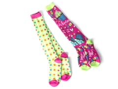 Cupcake & Dots Knee Socks (2 pair)