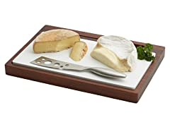 W&C Acacia Cheese Board & SS Knife