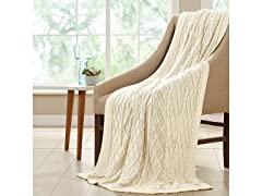 Allure Oversized Cable Knit Throws