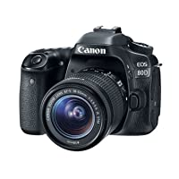 Deals on Canon EOS 80D DSLR 24.2MP Camera w/18-55m Lens