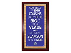 "Sacramento Kings 16"" x 32"" Sign"