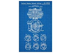 Rotary Internal Combustion Engine - F. Wankel - 1961 Print