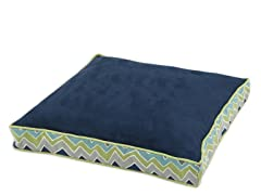 Navy-See Saw Boxed Pet Bed