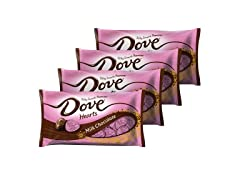 4-Pack DOVE Milk Chocolate Candy Hearts