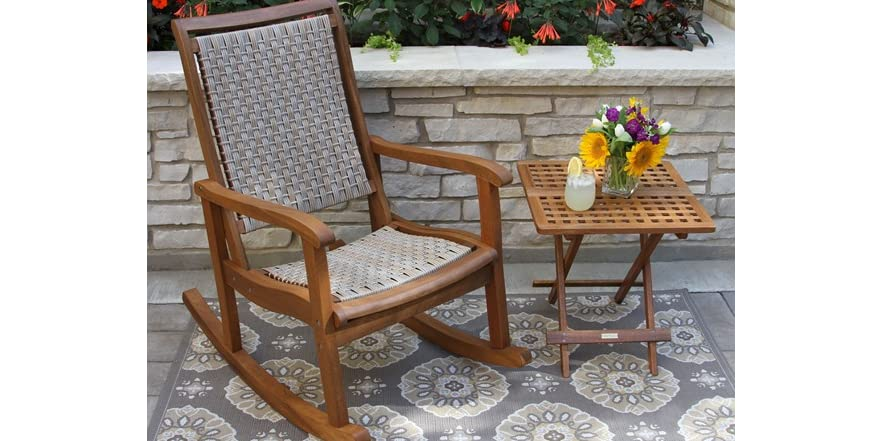 All-Weather Wicker Rocking Chair - Tools & Garden