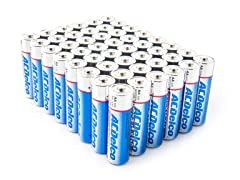 AA Alkaline Batteries - 48 Pack
